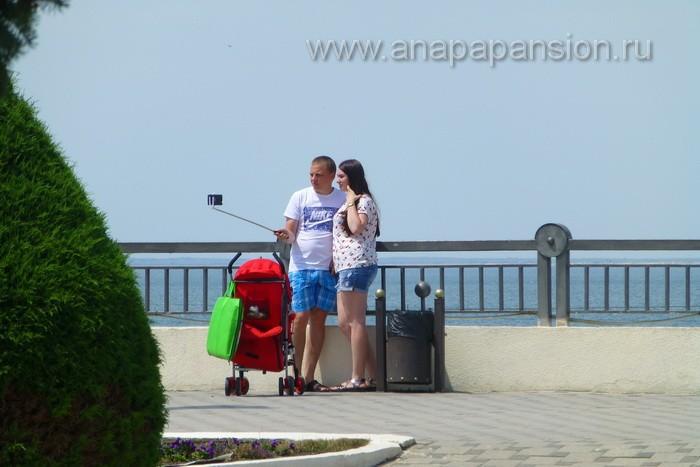 Анапа селфи на Набережной